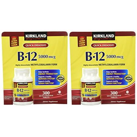 Kirkland Signature Sublingual B 12 5000 Mcg  300 Tablets