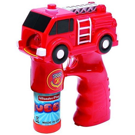 Fire Truck Bubble Shooter Gun With Sirens And Music - 2 Bubble