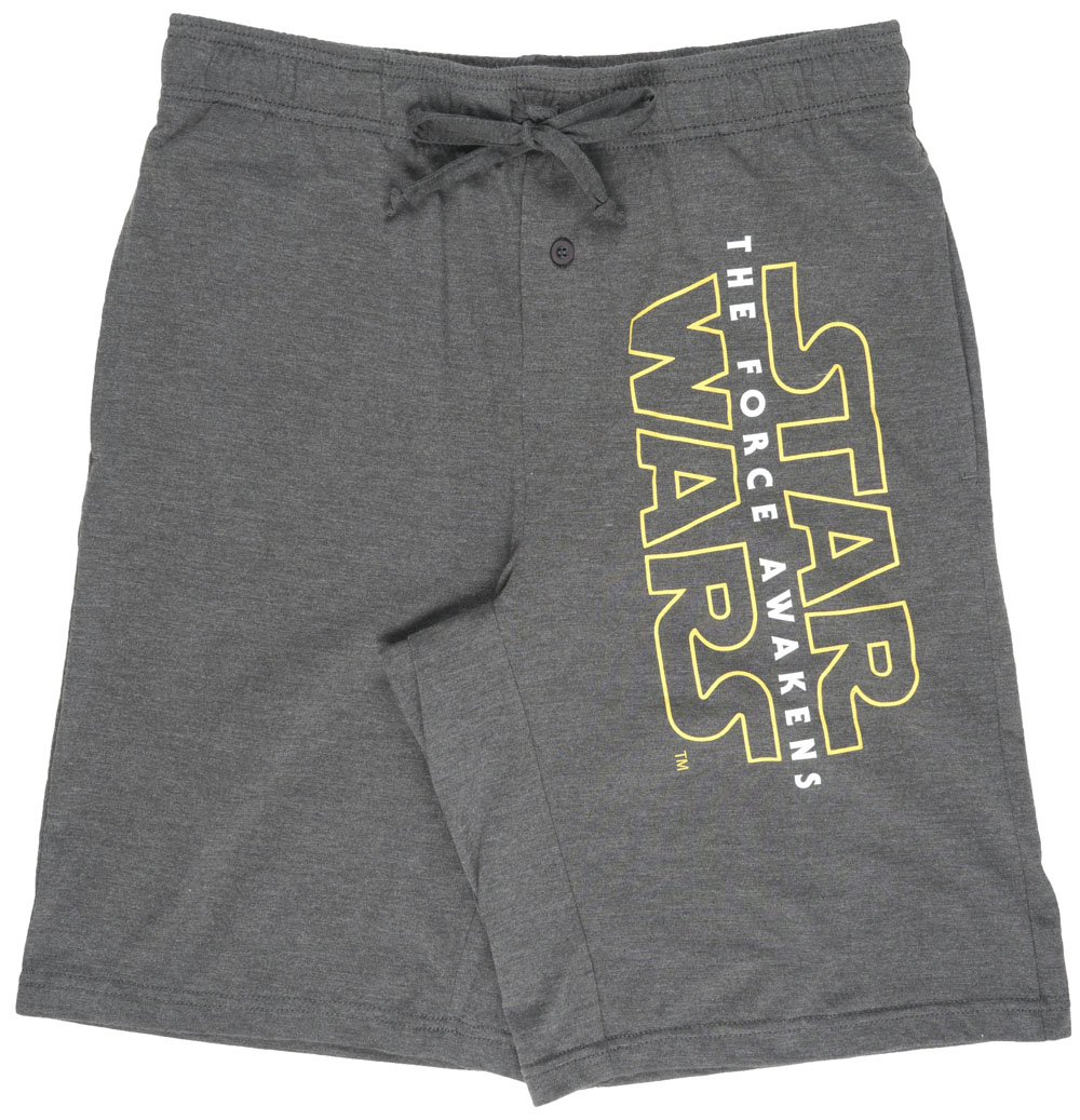 Star Wars Force Awakens Lounge Shorts Heather Grey Mens