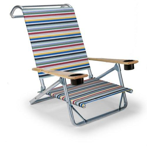 Genial ... Telescope Casual Original Mini Sun Chaise Folding Beach Arm Chair With  Cup Holders, Classic