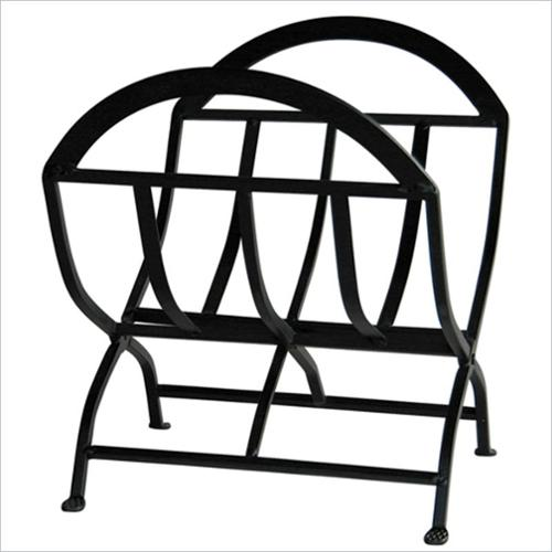 Uniflame Black Wrought Iron Log Rack