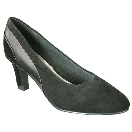 - David Tate Women's Sexy Dress Pumps Black Suede Patent Leather 11 N