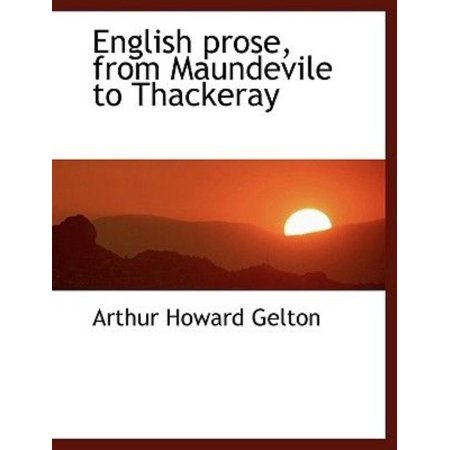 English Prose, from Maundevile to Thackeray - image 1 of 1