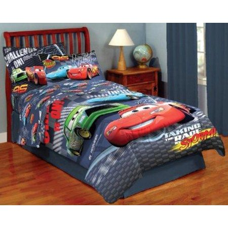 disney cars boys kids full comforter sheets shams 7 piece bed in a bag. Black Bedroom Furniture Sets. Home Design Ideas