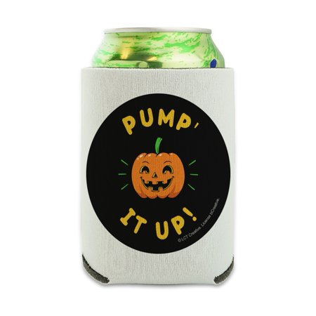 Dry Ice In Drinks For Halloween (Pumpkin Pump It Up Halloween Funny Humor Can Cooler - Drink Sleeve Hugger Collapsible Insulator - Beverage Insulated)