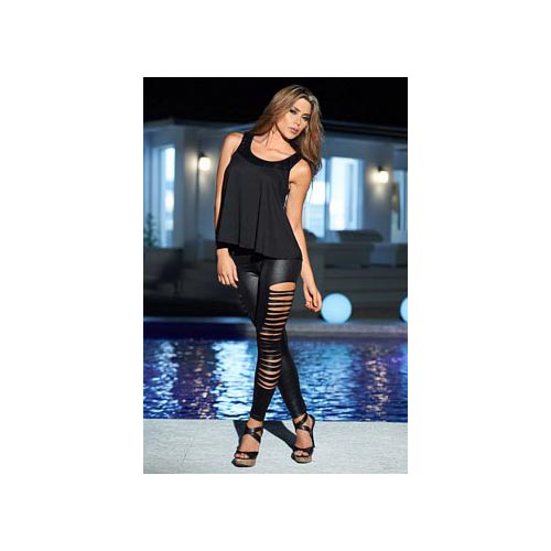 Slash Wet Look Leggings 1825 Espiral Black