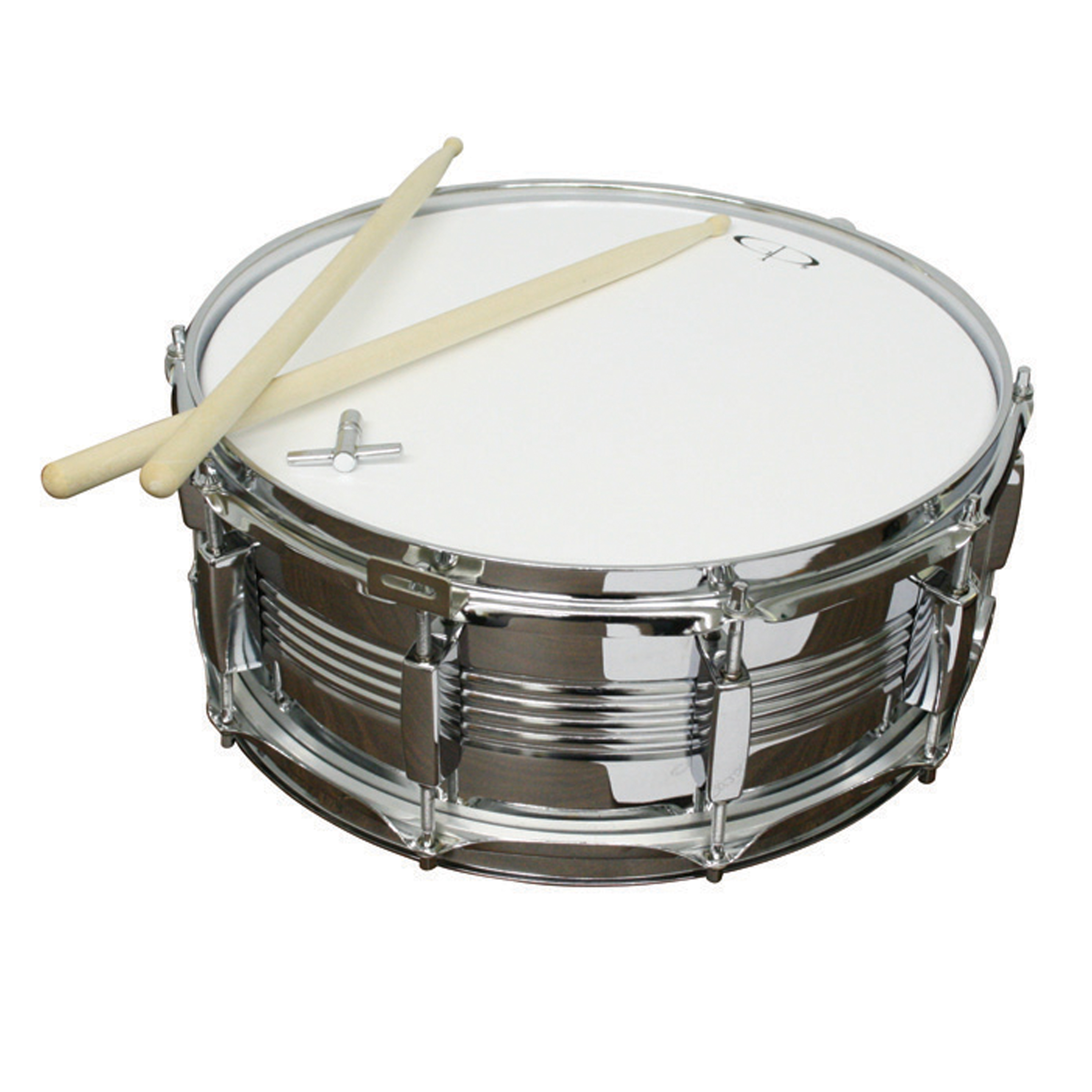 GP Percussion SDC201 14-inch, 10-Lug Metal Snare Drum by GP Percussion