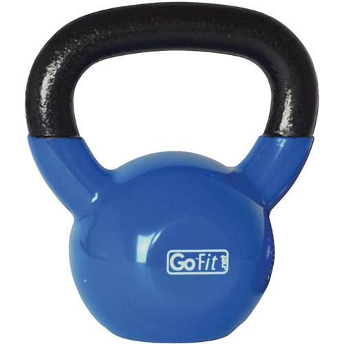 GoFit 20-lb Premium Kettlebell with Training DVD