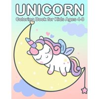 Kids Coloring Book: Unicorn Coloring Book for Kids Ages 4-8: Cute & Jumbo Unicorn Coloring Book for Girls 4-8 (Paperback)(Large Print)