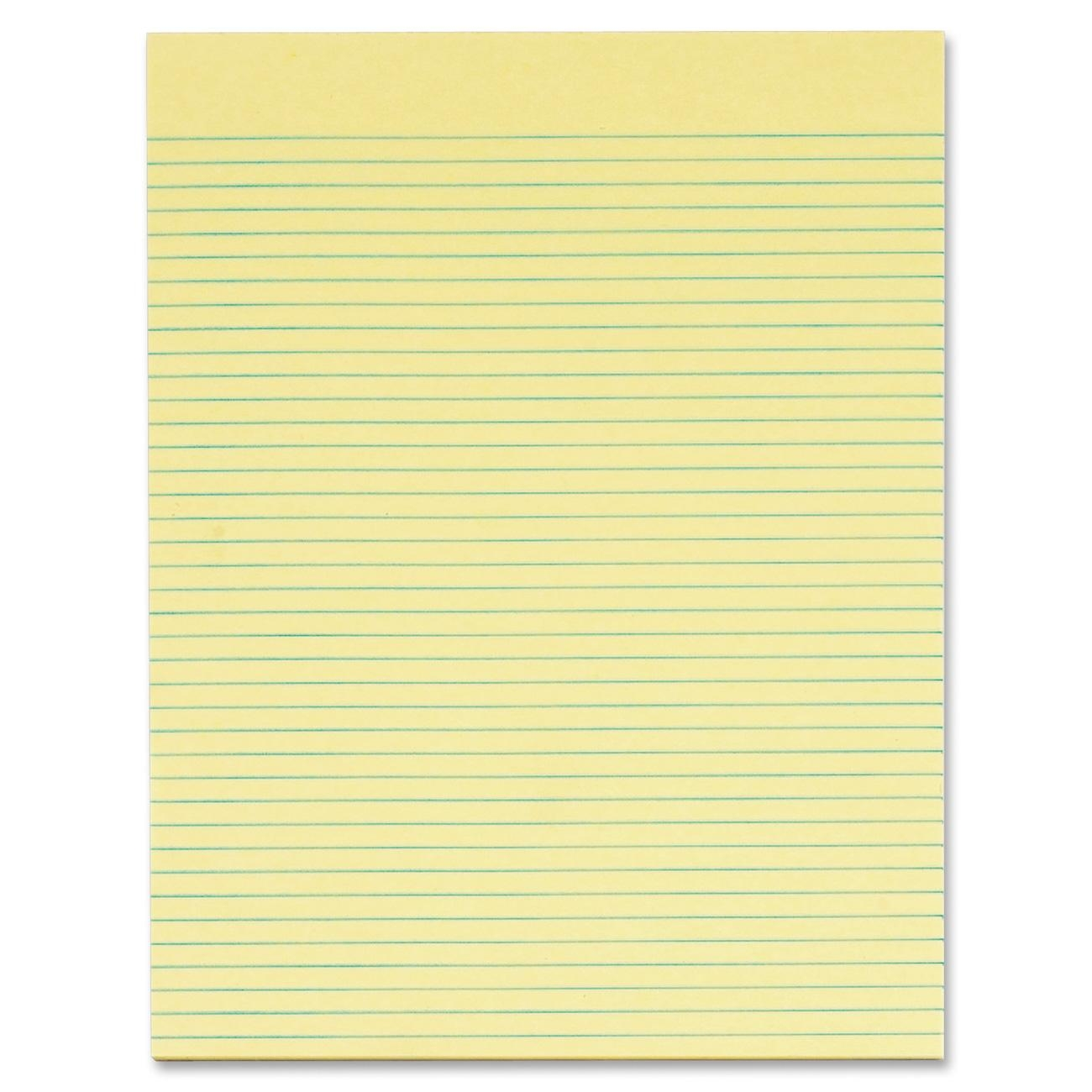 Tops Glue Top Wide Ruled Legal Pad   50 Sheet   Legal/narrow Ruled   Letter  8.50  Loose Leaf Paper Background