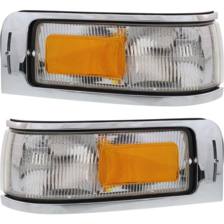 NEW SET OF 2 CORNER LAMP LENS AND HOUSING FRONT FITS 1995-1997 LINCOLN TOWN CAR (Lincoln Town Car Corner Light)
