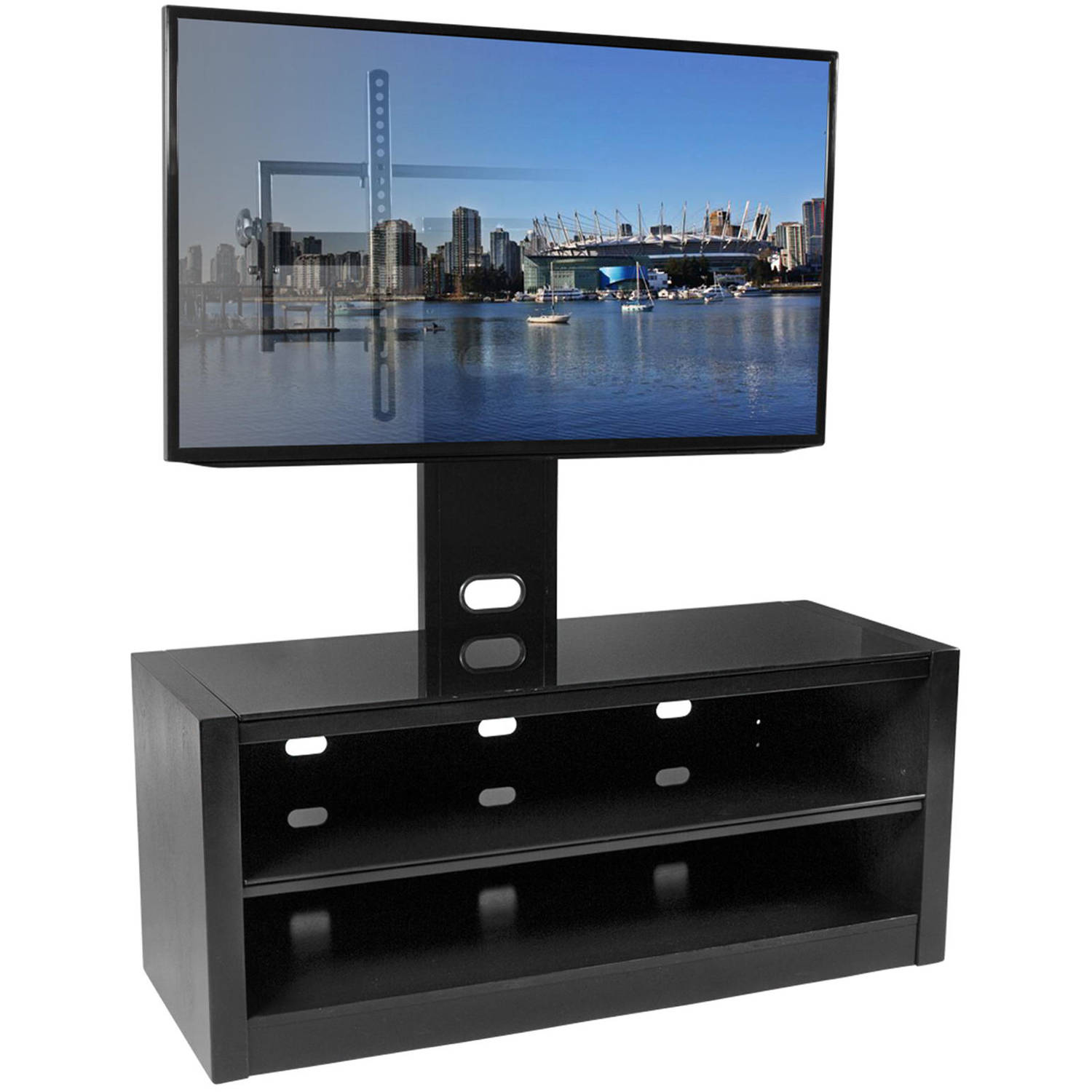 "Kanto MESA 46 Plus TV Stand with Tilt and Swivel Mount for Displays up to 80"", Black"