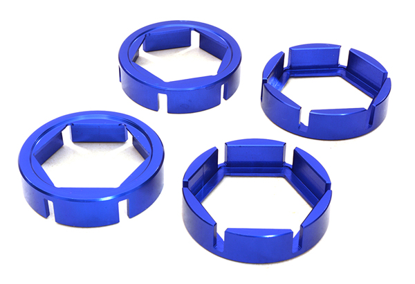 Integy RC Toy Model Hop-ups C27098BLUE Billet Machined Wheel Hex Outer Reinforcement Ring... by Integy