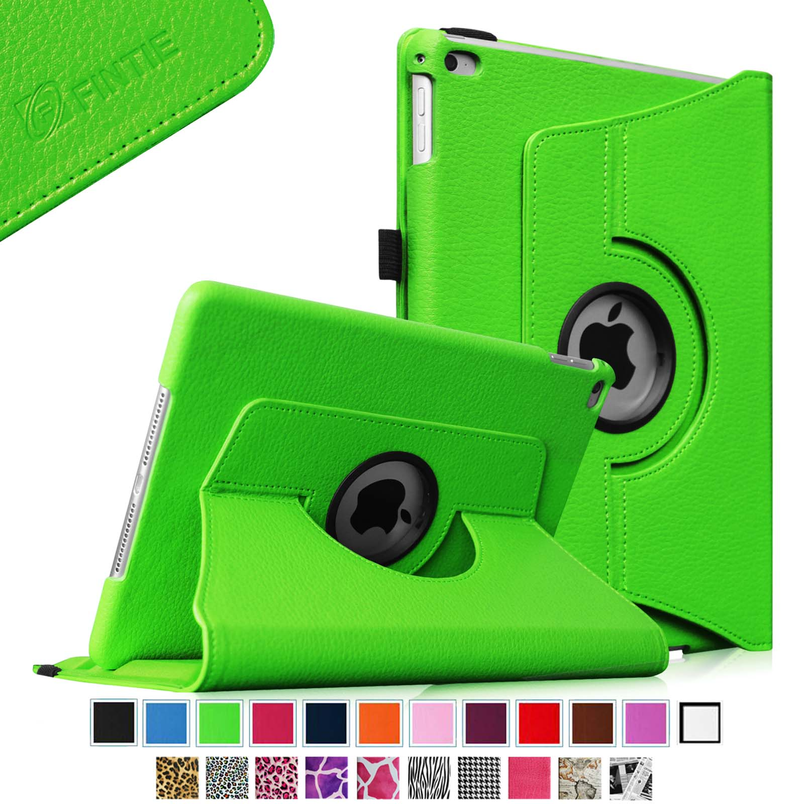 Fintie iPad Air 2 Case - 360 Degree Rotating Stand Case with Smart Cover Auto Sleep / Wake Feature, Green