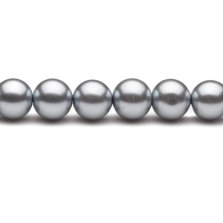 14mm Mercury Round Glass Pearl 30-Bead (Making Faux Mercury Glass)