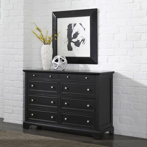 Home Styles Bedford Black Wood Dresser and Optional Matching Mirror Dresser Only