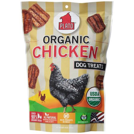 Plato Smart Dog Treats - Organic Chicken Strips, Usda Organic Chicken Ship from US..., By Plato Pet Treats