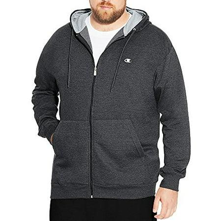 Champion Men's Big & Tall Full-Zip Fleece Hooded (Champion Hooded Jacket)