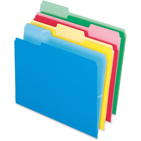 Pendaflex, PFX48440, Cutless Color File Folders, 100 / Box, - Privacy Folders