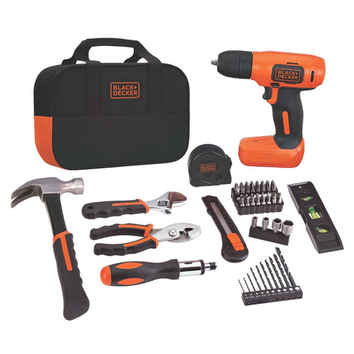 BLACK+DECKER 8-Volt MAX* Drill Project Kit,BDCD8PK