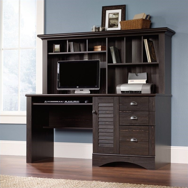 desk with com hills amazon oak dp carolina computer hutch sauder orchard