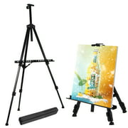 "UBesGoo 20"" Iron Triopd Painting Easel, Adjustable Collapsible Drawing Artist Display Stand Whiteboard Holder Floor Sketching Exhibition"