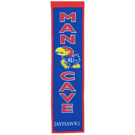Kansas Jayhawks Garden Flag (NCAA Man Cave Banner, University of Kansas Jayhawks )