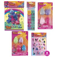 Trolls World Tour Birthday Party Favor Kit for 8 Guests - Trolls Party Supplies
