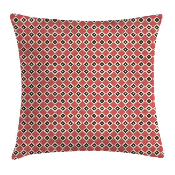 Small Square Decorative Pillows : Geometric Throw Pillow Cushion Cover, Diagonal Stripes with Big and Small Squares Inside ...