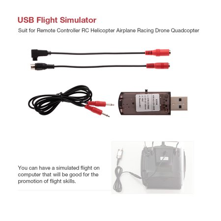 USB Flight Simulator Computer Simulation Flight for JR FUTABA Walkera Devo 7 FS-i6X Remote Controller RC Helicopter Airplane