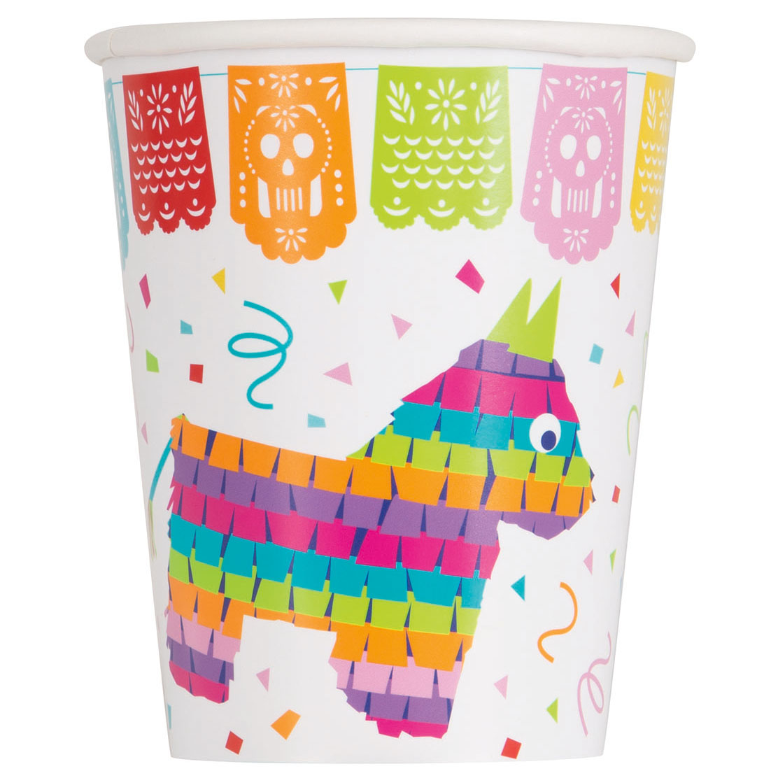 9oz Mexican Fiesta Paper Cups, 8ct