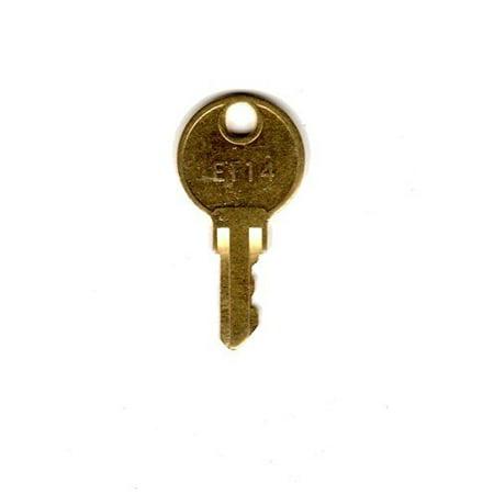 E114 Paper Towel Dispenser Utility Key Precut, Common paper towel dispenser key By Fradon Lock