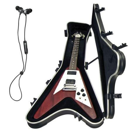skb 1skb 58 gibson flying v electric guitar hard case free bluetooth earbuds. Black Bedroom Furniture Sets. Home Design Ideas