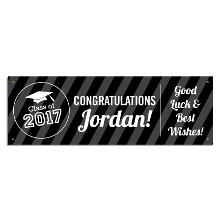 Personalized Graduation Banner, Black