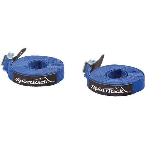SportRack SR0702 Universal Tie Down Straps, 15-feet, Blue