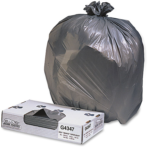 Jaguar Plastics Industrial Strength Low-Density Black Commercial Can Liner, 56 gal, 100 ct