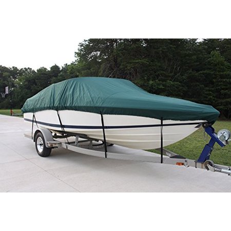 Dark New Year (NEW VORTEX 5 YEAR CANVAS HEAVY DUTY GREEN VHULL FISH SKI RUNABOUT COVER FOR 17 to 18 to 19' FT BOAT, IDEAL FOR 96