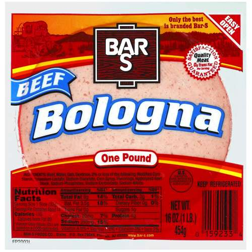 Bar-S Foods: Beef Bologna, 16 oz