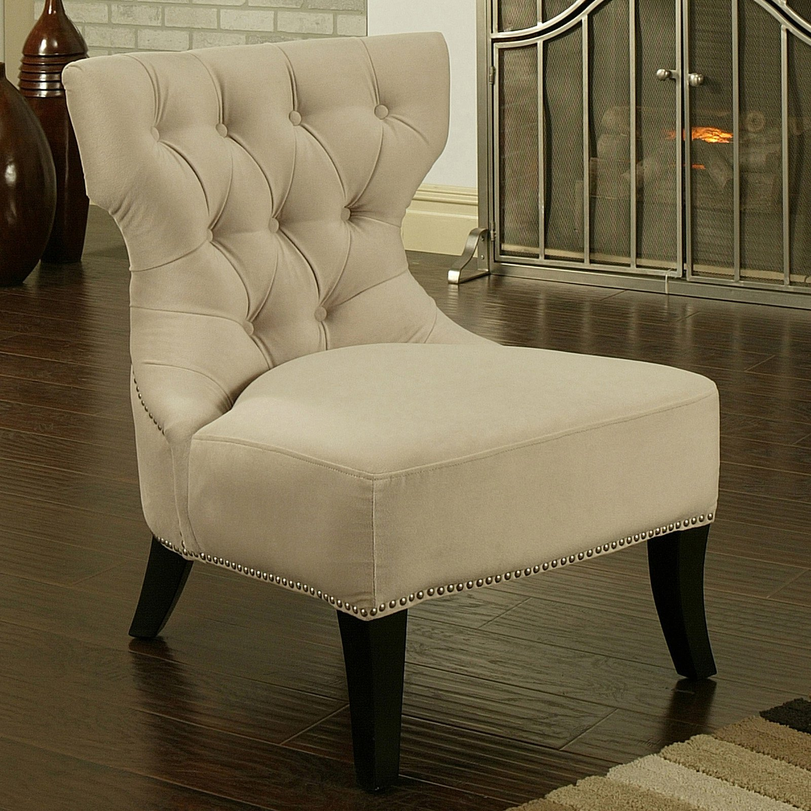 Superior Sedona Light Cream Microfiber Suede Chair   Walmart.com
