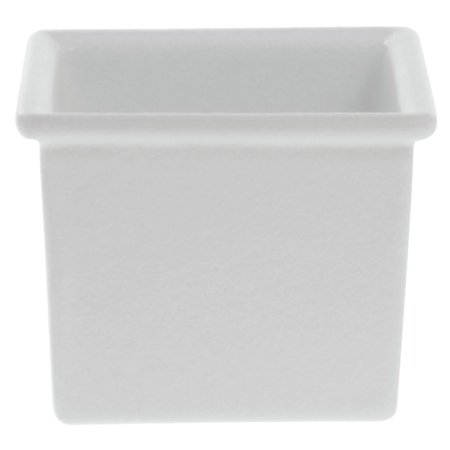 Bugambilia Square White Cast Aluminum Garnish Bowl  - 6