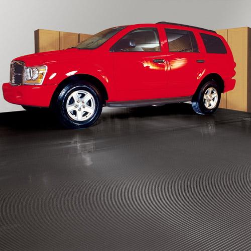 G-Floor Parking Pad Garage Floor Cover/Protector, 9' x 20', Ribbed, Midnight Black