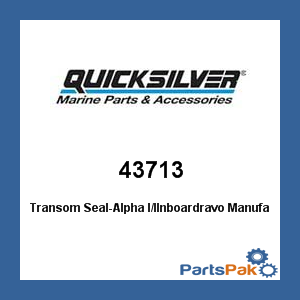 Mercury - Mercruiser 43713 Mercury Quicksilver 43713 Transom Seal-Alpha I/IInboardravo-Mercruiser