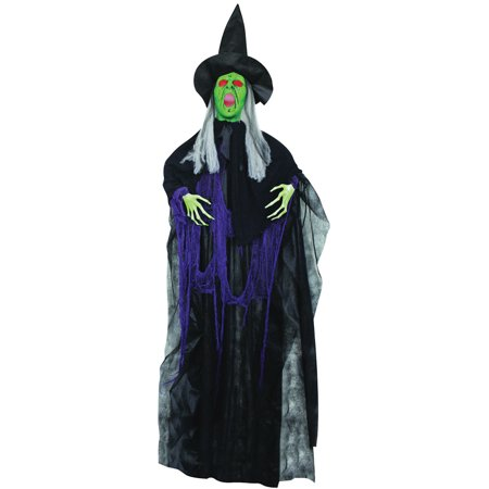 6' Hanging Witch with Lights & Sound Halloween - Halloween Screams Sounds