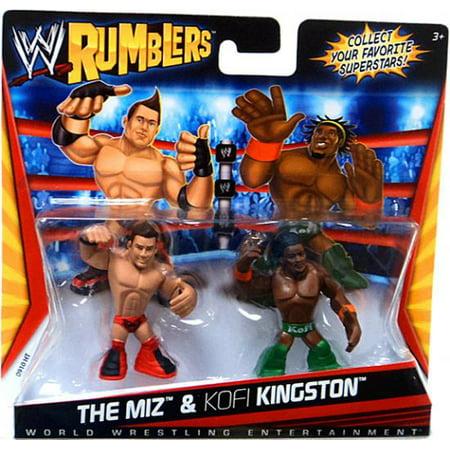 WWE Wrestling Rumblers Series 1 The Miz & Kofi Kingston Mini Figure