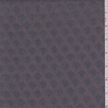 Bark Brown Dot Boucle Mesh Knit, Fabric By the Yard
