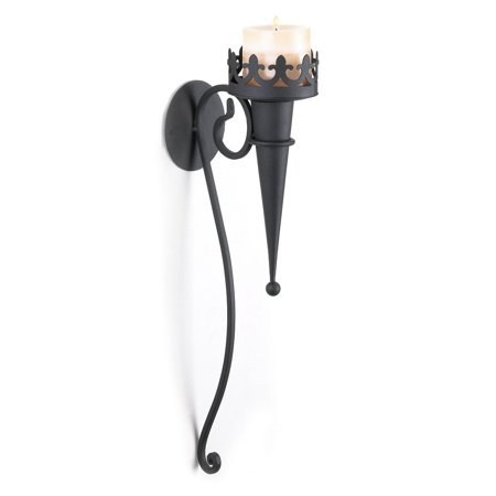 Gothic Meval Iron Wall Torch Sconce Pillar Candle Holder Interior Lighting Add A Touch Of