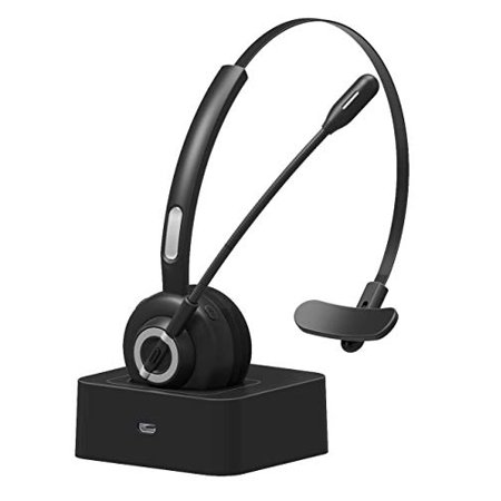Golvery Trucker Bluetooth Headset/Office Wireless Headset for Cell Phone Calling, 17h Talking Time, CVC6.0 Noise