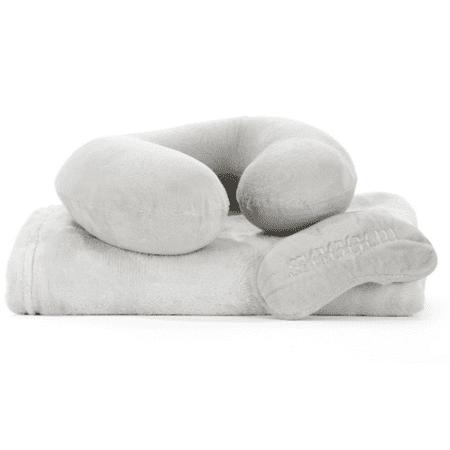 Metallic Sky Pillow, Blanket, And Eye Mask Set
