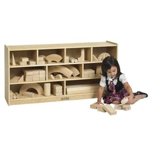 Early Childhood Resources ELR-17202 Wooden Block Storage Cabinet - Large