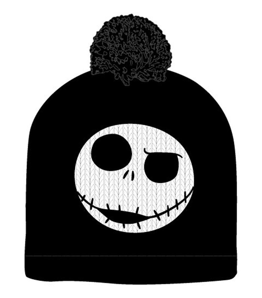 the nightmare before christmas jack skellington pompom black beanie winter hat